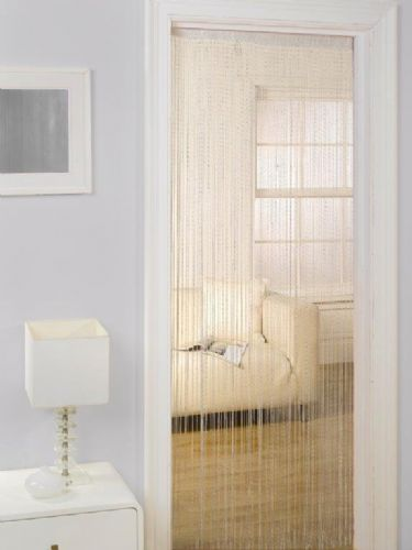 MODERN STRING DOOR CURTAIN 90x200cm WHITE COLOUR